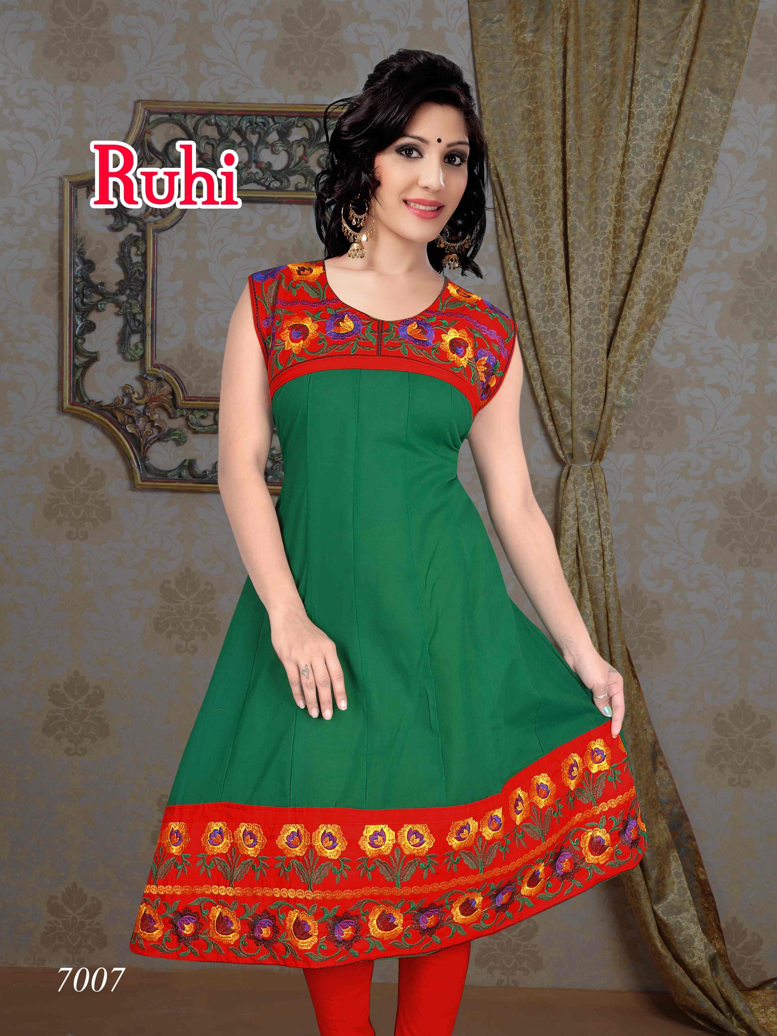 Ruhi Catalog Cotton Designer Kurtis Collection Biznet